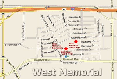 Map of West Memorial
